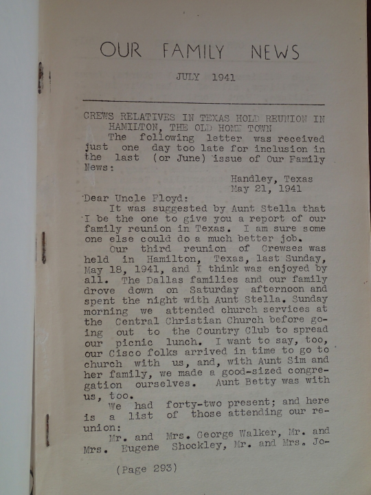 Our Family News (July 1941) Vol 5, Issue 7