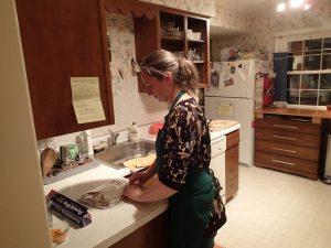 Sabrina in the kitchen