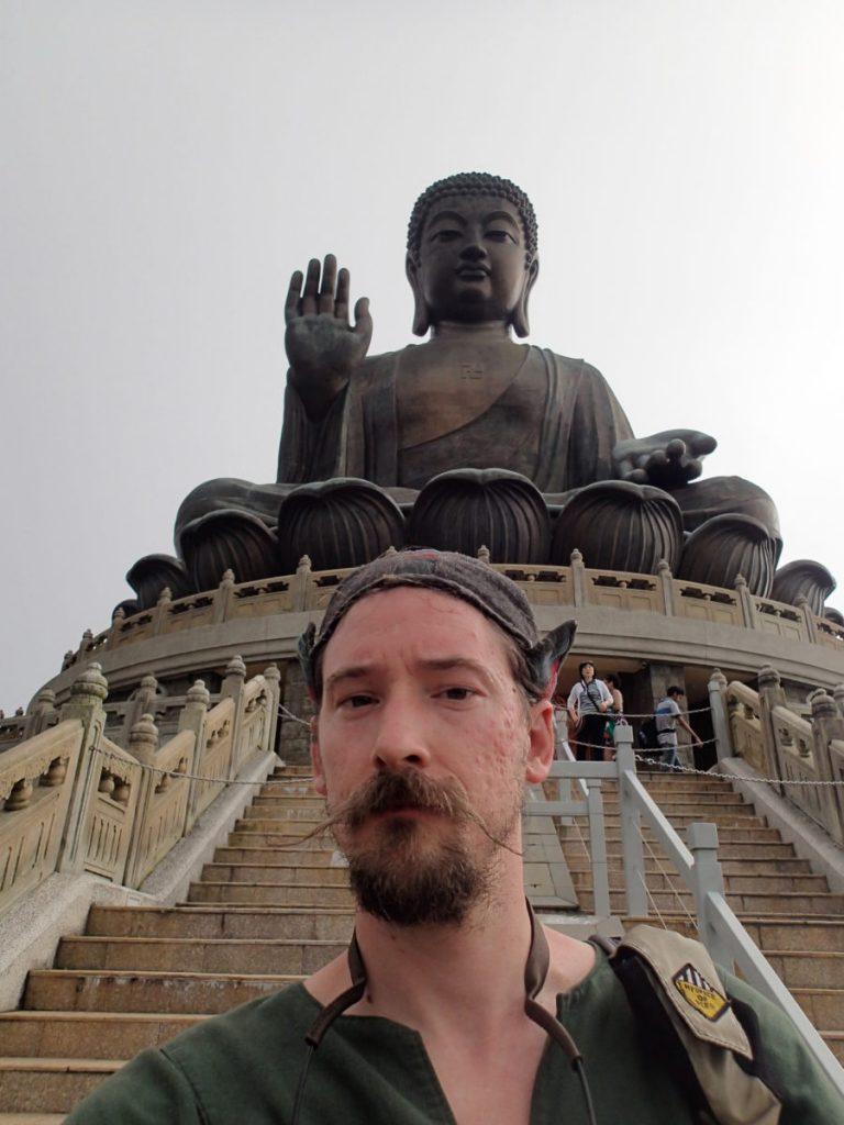 The world's largest Buddha, on Lantau Island, Hong Kong.