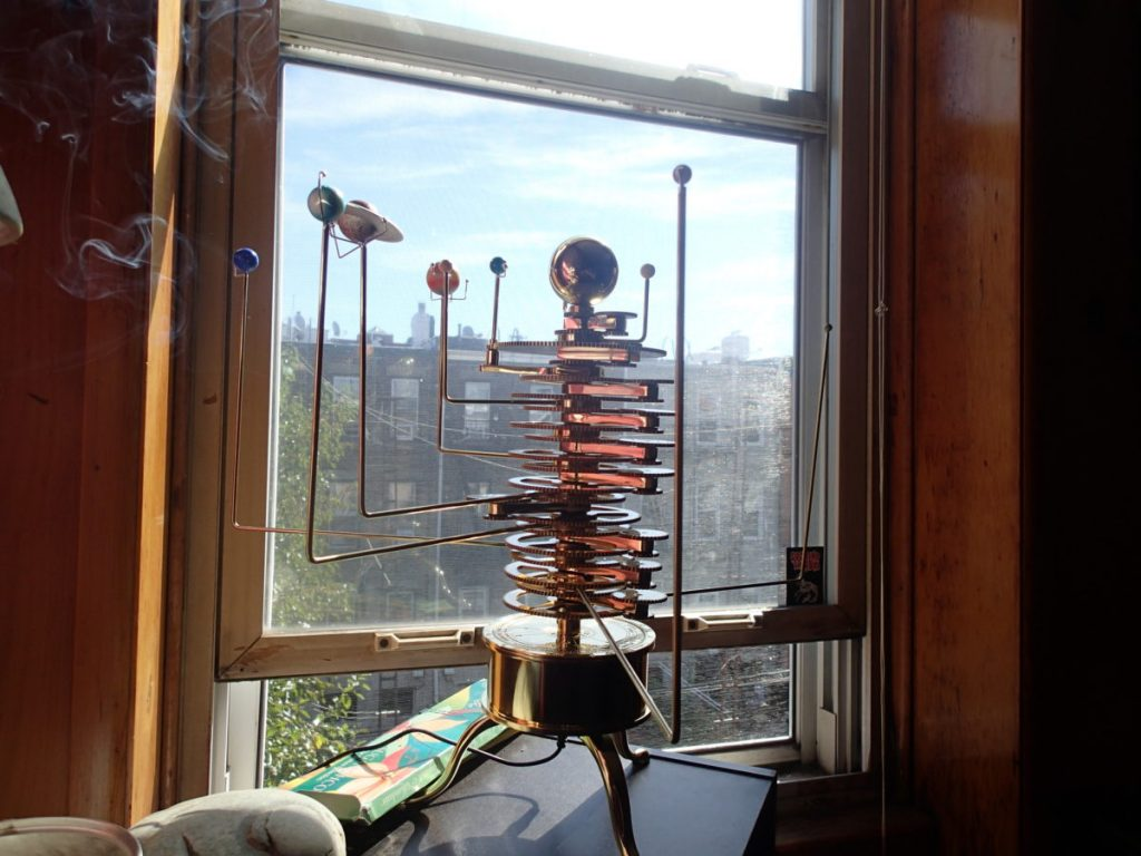 My new brass orrery in action.