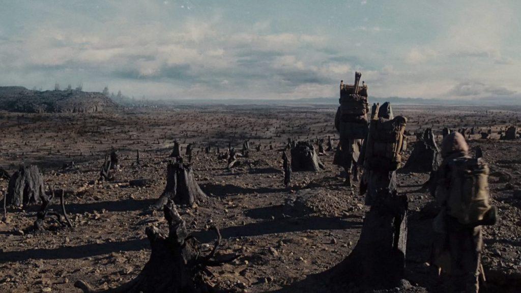 Noah entering the desolate land of Cain.