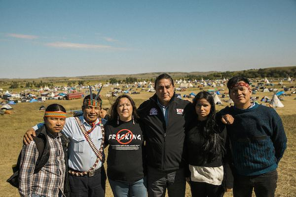 Sarayaku Kichwa Delegation and Supporters at Standing Rock