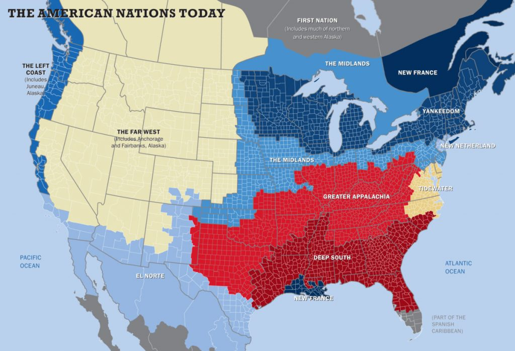 American Nations map